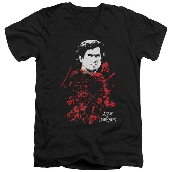 Army Of Darkness Pile Of Baddies Short Sleeve Adult V Neck T-Shirt