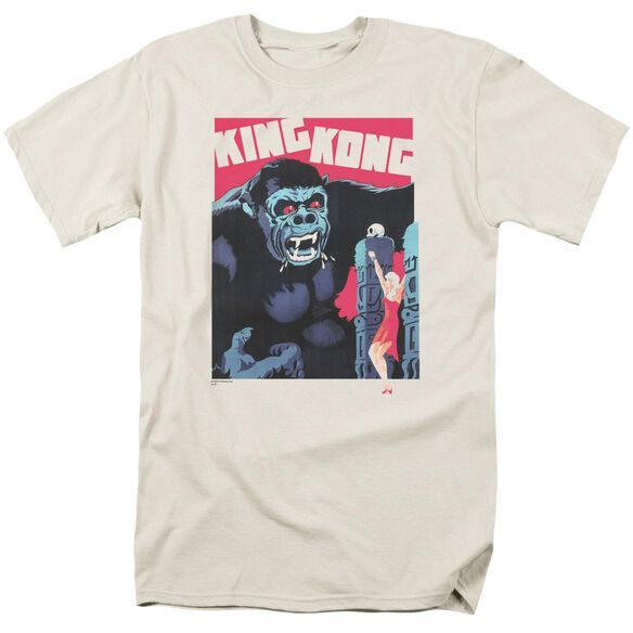King Kong Bright Poster Short Sleeve Adult Cream T-Shirt