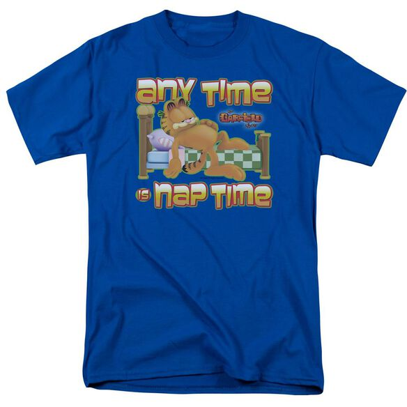 Garfield Nap Time Short Sleeve Adult Royal T-Shirt