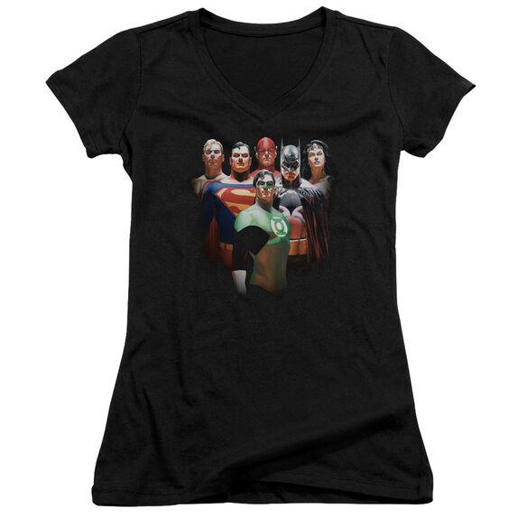 Jla Roll Call Junior V Neck T-Shirt