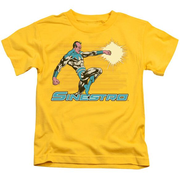 Dc Sinestro Short Sleeve Juvenile Yellow T-Shirt