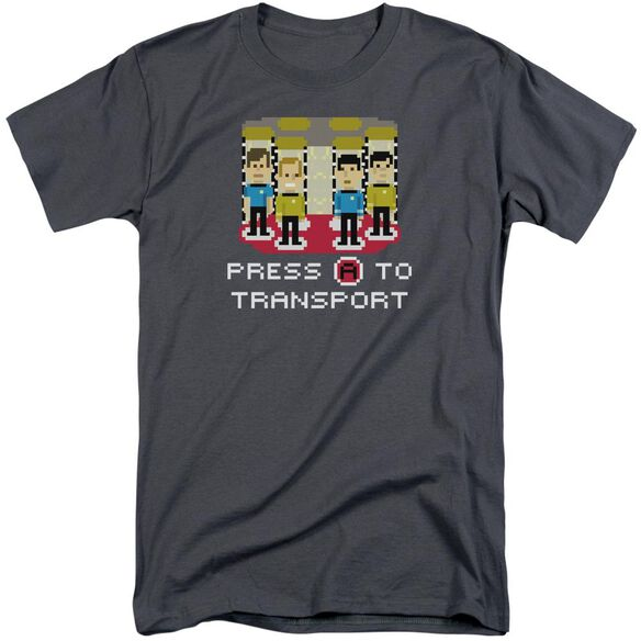 Star Trek Press A To Transport Short Sleeve Adult Tall T-Shirt