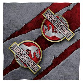 Jurassic Park Slash Logo Bandana White