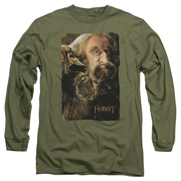The Hobbit Oin Long Sleeve Adult Military T-Shirt