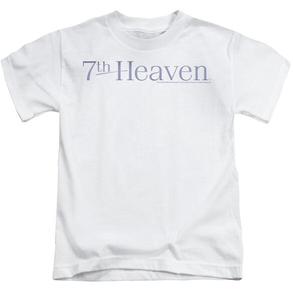 7 Th Heaven 7 Th Heaven Logo Short Sleeve Juvenile White T-Shirt