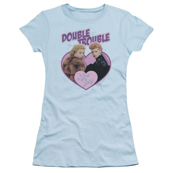 I Love Lucy Double Trouble Short Sleeve Junior Sheer Light T-Shirt