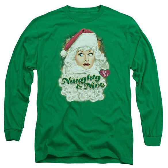 I Love Lucy Santa Long Sleeve Adult Kelly T-Shirt