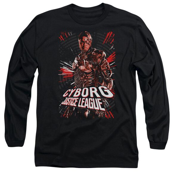 Justice League Movie Cyborg Long Sleeve Adult T-Shirt