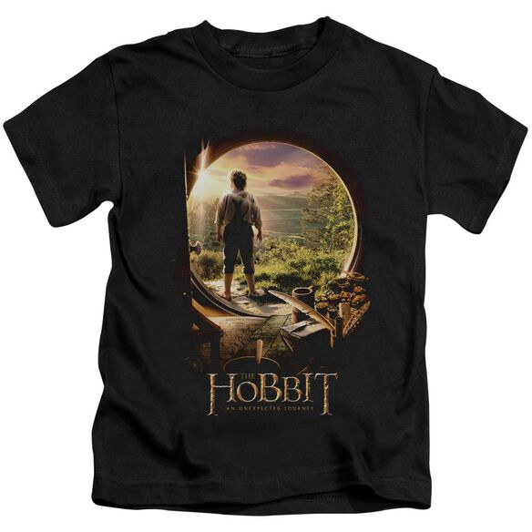 The Hobbit Hobbit In Door Short Sleeve Juvenile Black T-Shirt