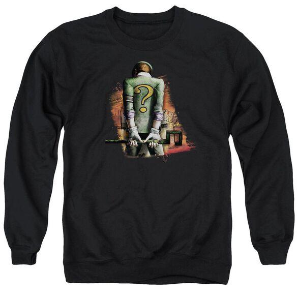 Arkham City Riddler Convicted - Adult Crewneck Sweatshirt - Black
