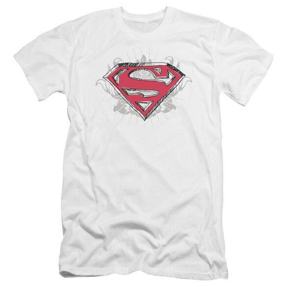 Superman Hastily Drawn Shield Premuim Canvas Adult Slim Fit