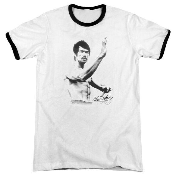 Bruce Lee Serenity Adult Ringer White Black