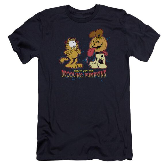 Garfield Drooling Pumpkins Premuim Canvas Adult Slim Fit