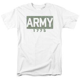 Army Block Short Sleeve Adult White T-Shirt
