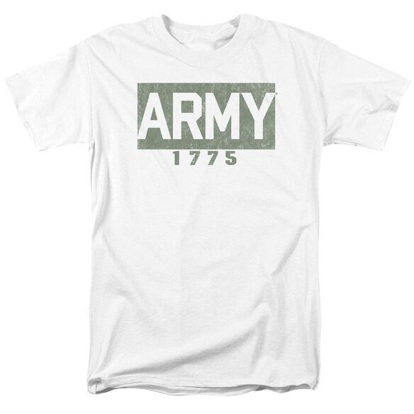 Army Block Short Sleeve Adult White T-Shirt