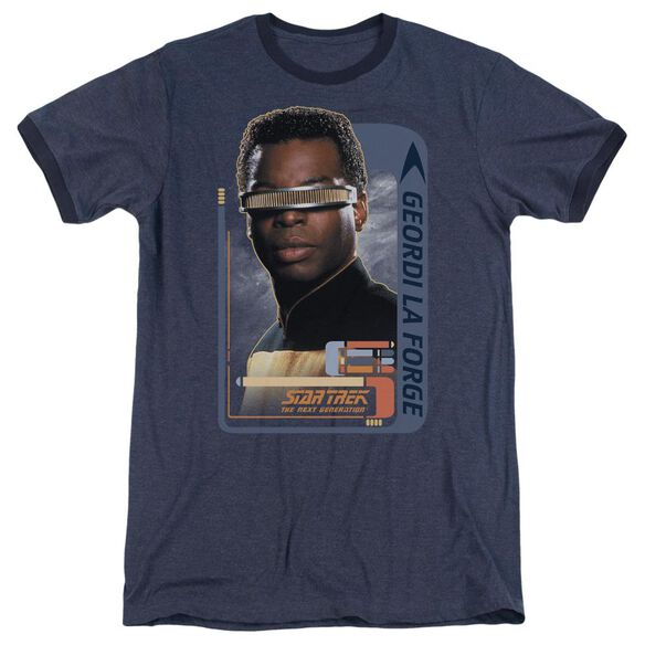 Star Trek Geordi Laforge Adult Heather Ringer Navy