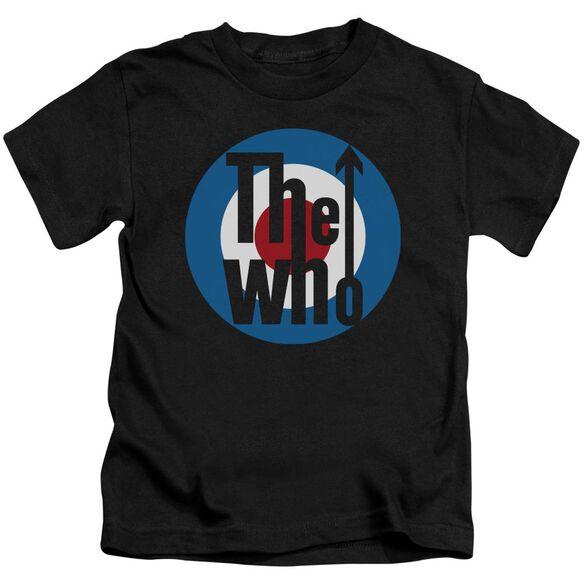 The Who Logo Short Sleeve Juvenile Black T-Shirt