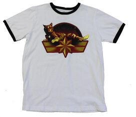 Captain Marvel Emblem with Goose Ringer T-Shirt