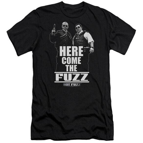 Hot Fuzz Here Come The Fuzz Premuim Canvas Adult Slim Fit