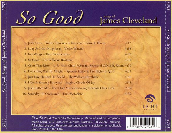 So Good:Songs Of James Cl