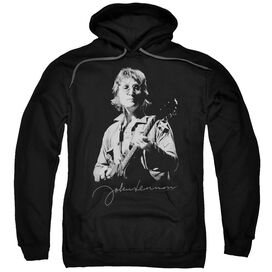 John Lennon Iconic Adult Pull Over Hoodie Black