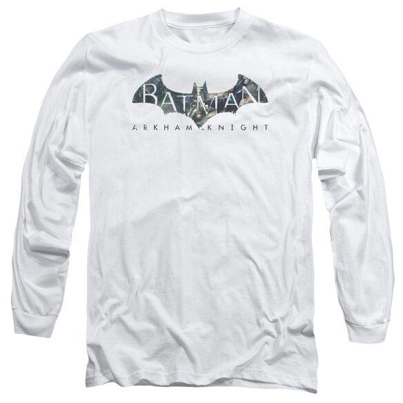 Batman Arkham Knight Descending Logo Long Sleeve Adult T-Shirt