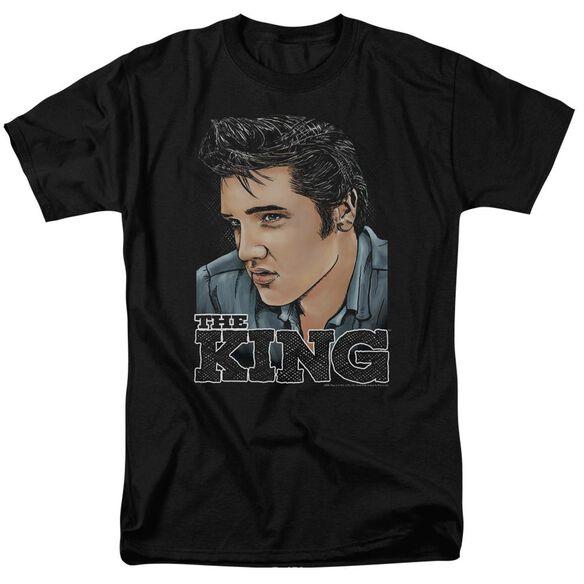 Elvis Graphic King Short Sleeve Adult T-Shirt