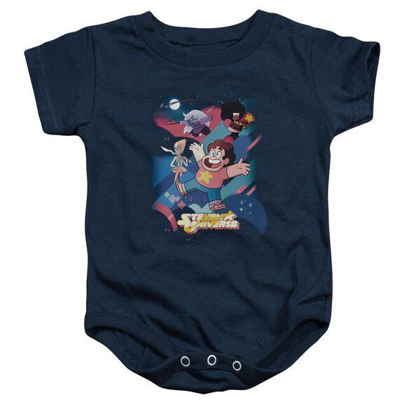 Steven Universe Group Shot Infant Snapsuit Navy