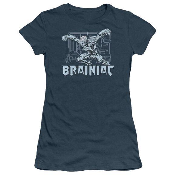 Dc Brainiac Short Sleeve Junior Sheer T-Shirt
