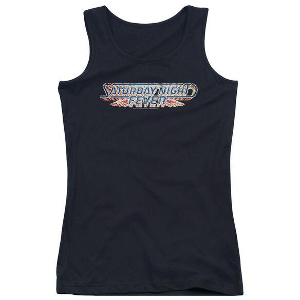 Saturday Night Fever Logo Juniors Tank Top