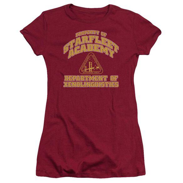 Star Trek Xenolinguistics Short Sleeve Junior Sheer T-Shirt