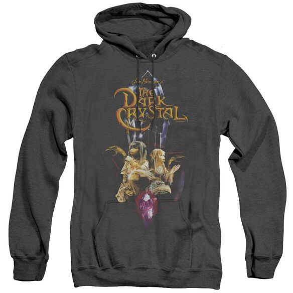 Dark Crystal Crystal Quest - Adult Heather Hoodie - Black