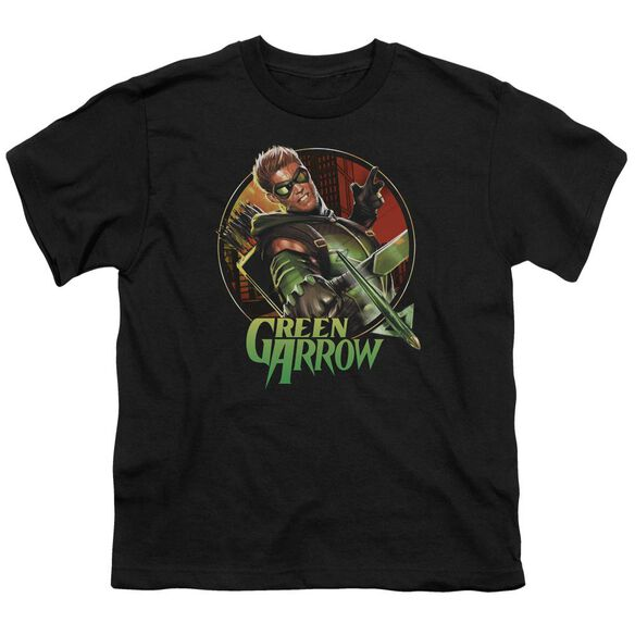 Jla Sunset Archer Short Sleeve Youth T-Shirt