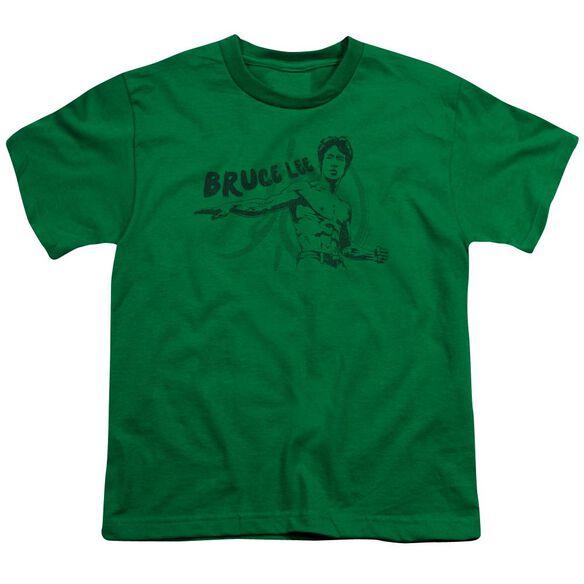 Bruce Lee Brush Lee Short Sleeve Youth Kelly T-Shirt