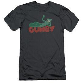 Gumby On Logo Short Sleeve Adult T-Shirt