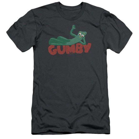 Gumby On Logo Short Sleeve Adult T-Shirt