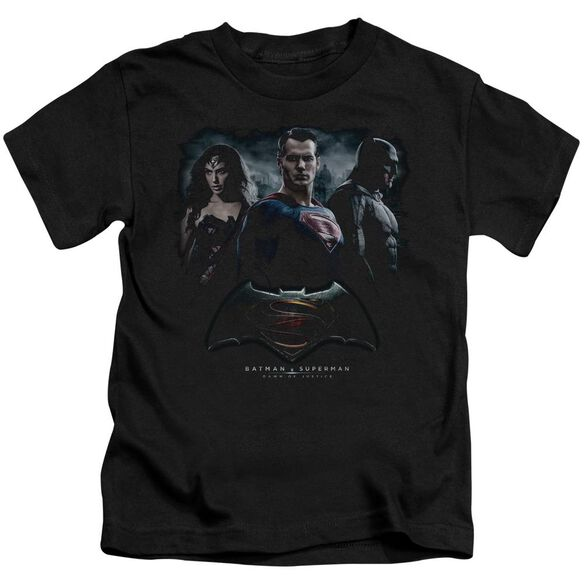 Batman V Superman The Crew Short Sleeve Juvenile Black T-Shirt