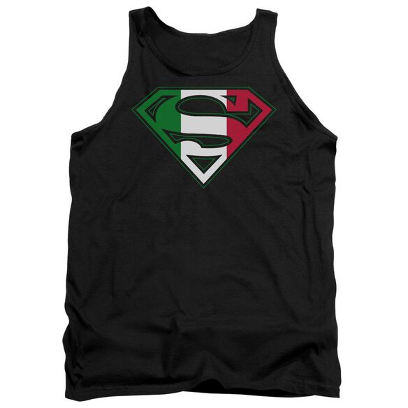Superman Italian Shield Adult Tank