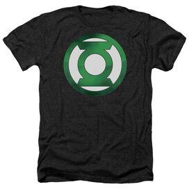 Green Lantern Green Chrome Logo Adult Heather