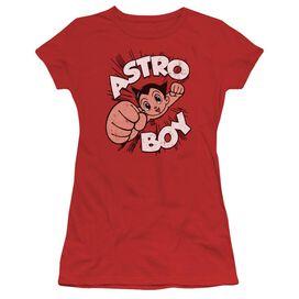 Astro Boy Flying Short Sleeve Junior Sheer T-Shirt