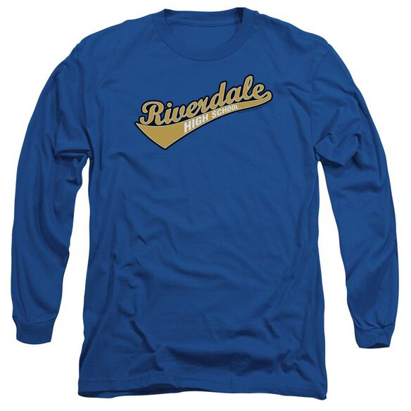 Archie Comics Riverdale High School Long Sleeve Adult Royal T-Shirt
