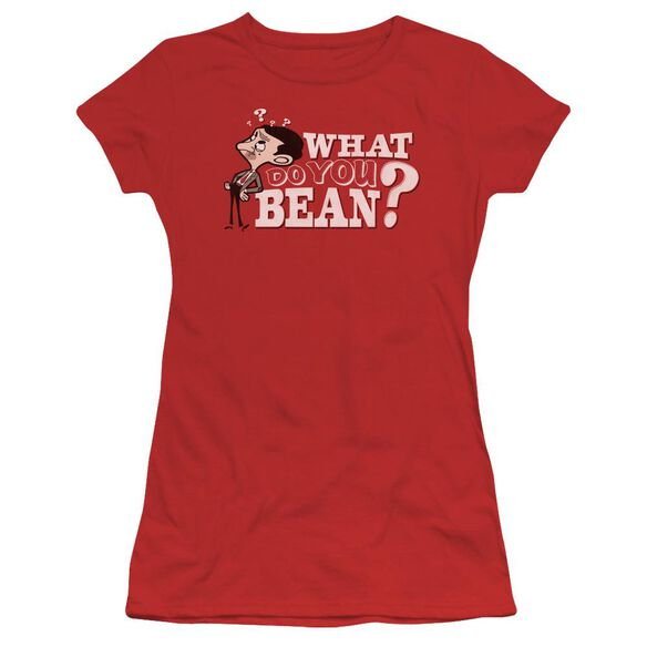 Mr Bean What You Bean Short Sleeve Junior Sheer T-Shirt