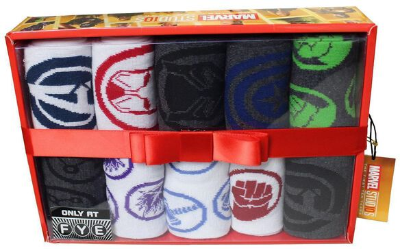 Marvel Studios The First Ten Years 10 pack Sock Box