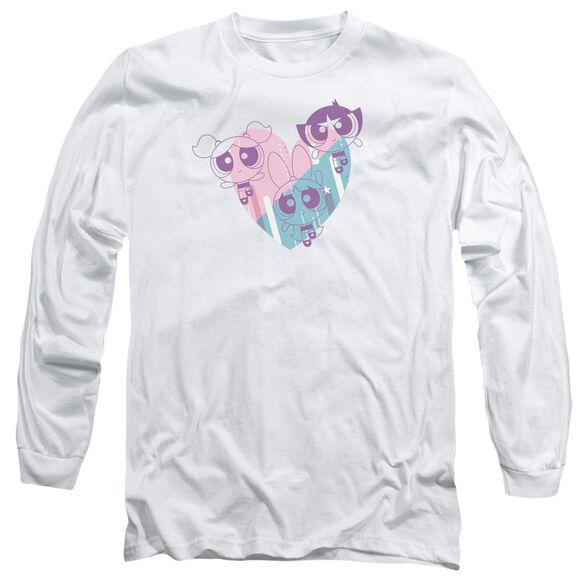 Powerpuff Girls Powerpuff Heart Long Sleeve Adult T-Shirt