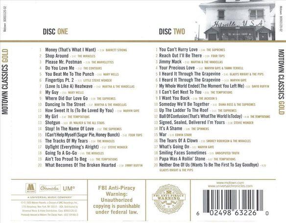 Motown Classics: Gold / Various (Rmst)