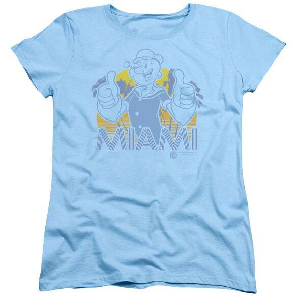 Popeye Miami Short Sleeve Womens Tee Light T-Shirt