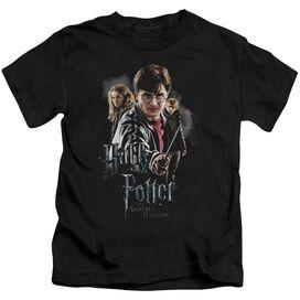 Harry Potter Deathly Hollows Cast Short Sleeve Juvenile Black T-Shirt
