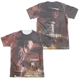 Stevie Ray Vaughan Weather (Front Back Print) Adult Poly Cotton Short Sleeve Tee T-Shirt