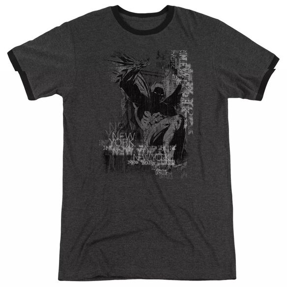 Batman The Knight Life - Adult Heather Ringer - Charcoal