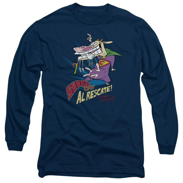 Cow & Chicken Super Cow Long Sleeve Adult T-Shirt